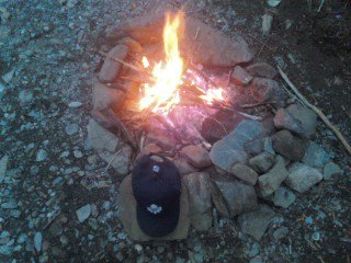Out camping