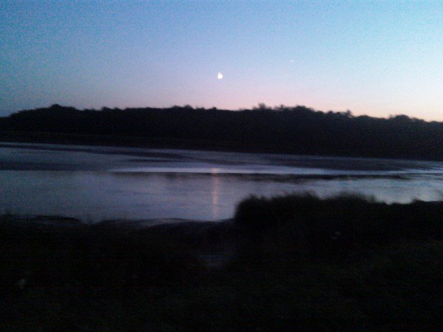 Sunset in the vilalge ove rthe dyke