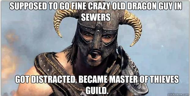 Oh Dragonborn, you so silly