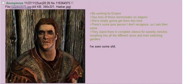 Favorite 4Chan Post on Skyrim