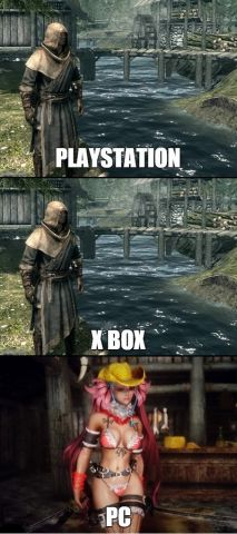 Skyrim - Consoles vs PC