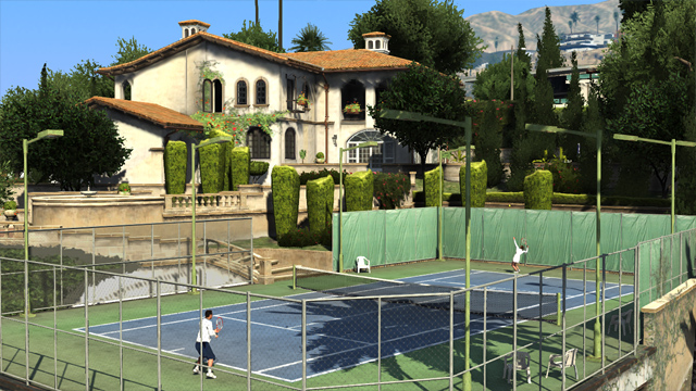 GTA:V - Playing Tennis