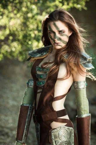 Skyrim cosplay aela woman 479874