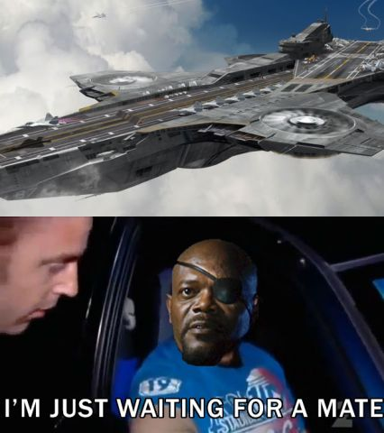 Nick Fury's just waiting for a mate.